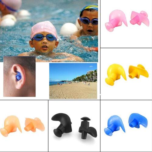 1 Paar Silikon-Ohrstöpsel Anti Lärm Ohr-Stecker Schlaf Schwimmen Gehörschut P9Q3