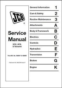 JCB 3CX 4CX 214 215 217 BACKHOE WORKSHOP SERVICE MANUAL