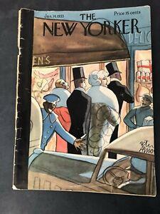 Vtg-The-New-Yorker-Magazine-January-14-1933-Peter-Arno-Cover