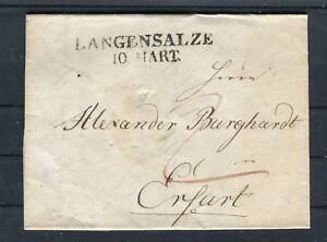 Vorphila justificante incl. contenido langensalze-Erfurt-b5414