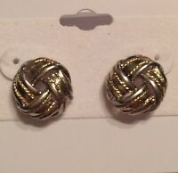 Silver & Gold Stud Earrings Retail $45