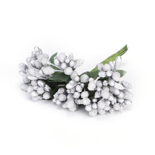 12pcs Berry Artificial Handmade Flower For Wedding Home Decoration Fake Flowe/_TI