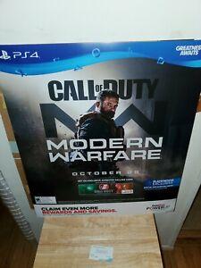 Gamestop Call Of Duty Modern Warfare 2 Promo Poster 24 28 Rare
