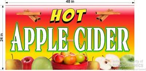 2-039-X-4-039-VINYL-BANNER-HOT-APPLE-CIDER-NEW-GRAPHICS