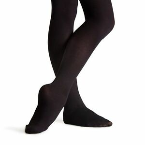 179709bf7fc97 Capezio 14C Black Girl's Size Large Hold and Stretch Footed Tights ...