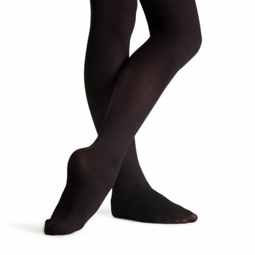 Capezio 14C Black Girl/'s Size Medium Hold and Stretch Footed Tights