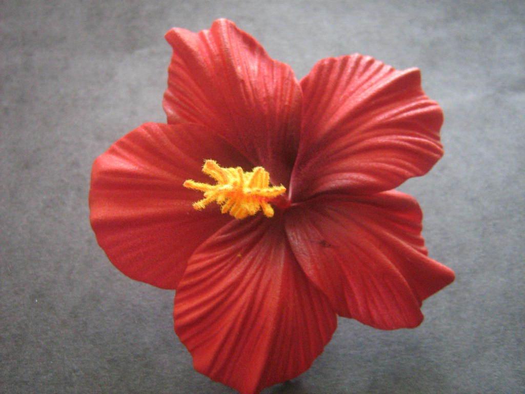 Hawaiian Foam Hibiscus Flower Hair Clip Aloha Red Ebay