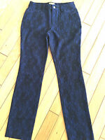 Midnight Velvet All Over Lace Detailed Women's Pants Size 8