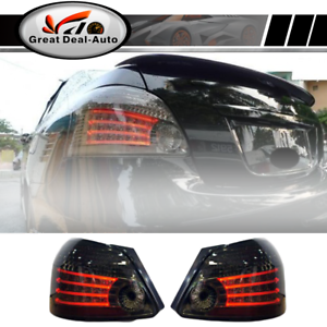 Smoked-LED-Tail-Lights-Rear-Lamps-For-Toyota-Yaris-NCP93-2007-2011-Sedan-Pair