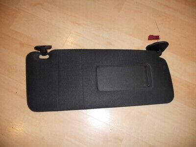BMW E38 740 750  X5 Passenger Right Side Black Cloth Sun Visor With Clip