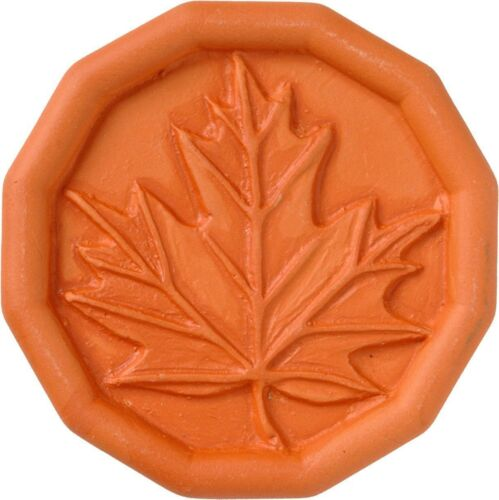 JBK Terra Cotta Brown Sugar Saver Food Softener Maple Leaf Pattern Kitchen