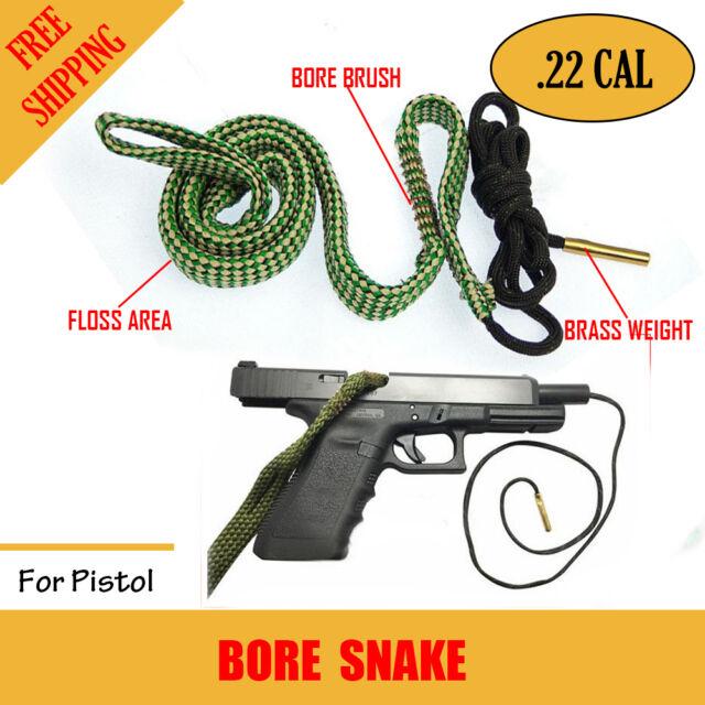 Bore Brush .22 Cal Rifle Shotgun Pistol Cleaning Kit Borebrush Gun Snake Cleaner