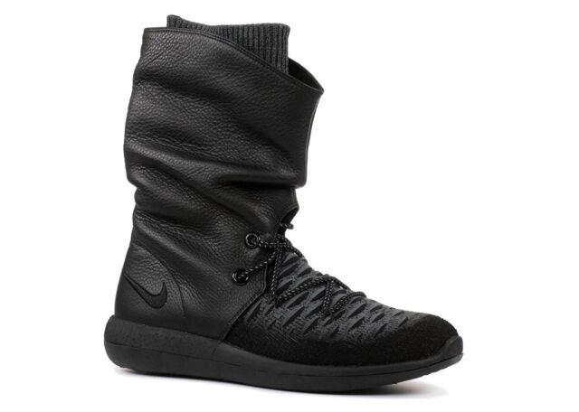 9b9fc72f9dc60 WMNS Nike Roshe Two Hi Flyknit 2 Black Womens Sneakerboot BOOTS ...
