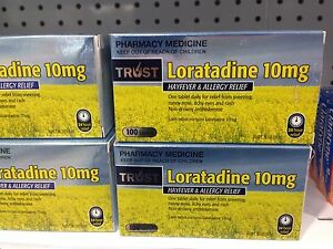 Details about AUSTRALIAN MADE** LORATADINE 10MG CLARATYNE GENERIC *200*  TABLETS