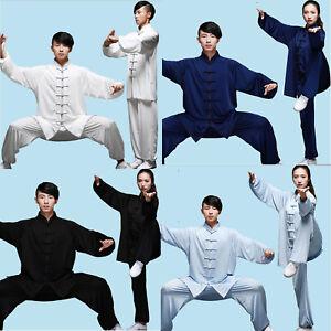 Chinese Cotton Silk Kung Fu Tai Chi Uniform Martial Arts Wushu Wing Suit Ske15