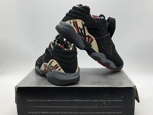 4c19053fadec17 Men s Size 8 Nike Air Jordan 8 Retro Low Black True Red-Del Sol ...