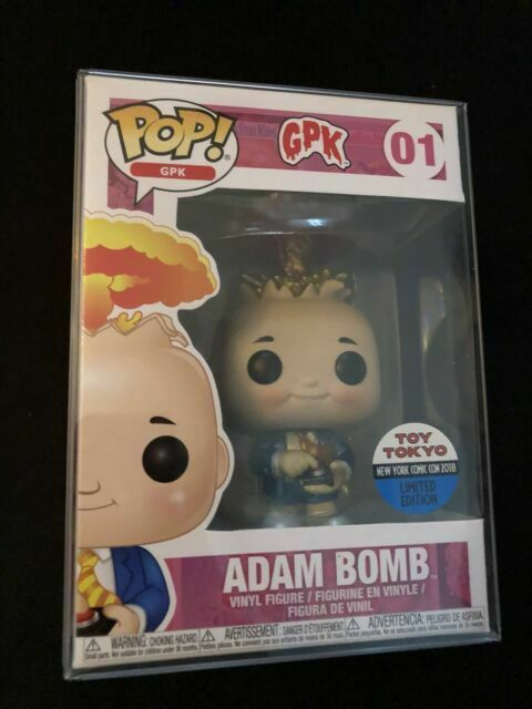 Garbage Pail Kids 01 Adam Bomb 2018 NYCC exclusivo Metálico figura de vinilo Pop