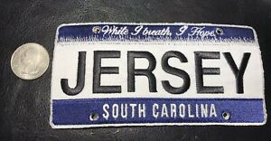 New-Large-embroidered-JERSEY-South-Carolina-Vanity-License-Plate-Patch