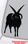 FOUR-HORNED-JACOB-SHEEP-Vinyl-Decal-Sticker-Window-Wall-Bumper-Satan-Animal-Goat miniature 1
