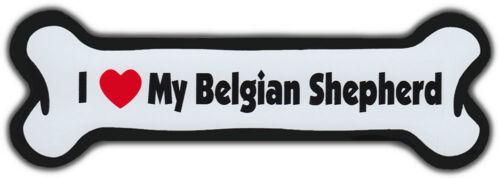 Dog Bone Magnet I LOVE MY BELGIAN SHEPHERDDogs Doggy PuppySHEEPDOG SHEEP