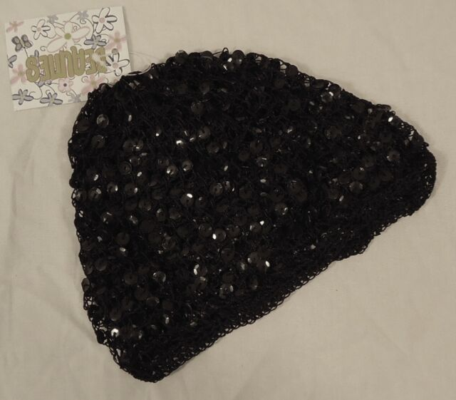Beauties Bo5127 Youth Girls Black Sequin Beanie Hat  092c8475a0c