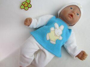 Puppenbekleidung für Baby Annabell 36cm groß Hase 4-teilig