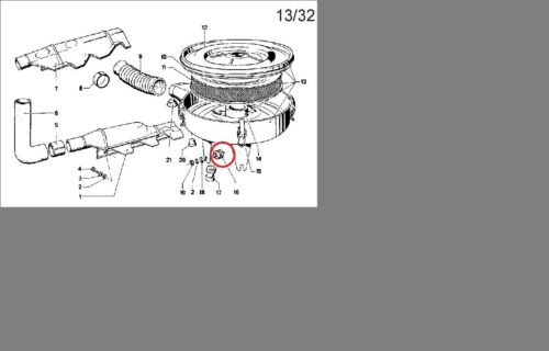 BMW e10 schwingmetall corps le filtre à air pour tous les modèles carburateur 1502 2002