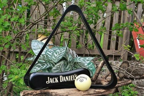 Jack Daniels 3 Piece Billiards Starter Set Cue Ball /& Brush Triangle Pool