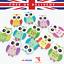 19*25mm Cute Owl Mix Coloré Couture Boutons/% 100 bois Scrapbook Craft School