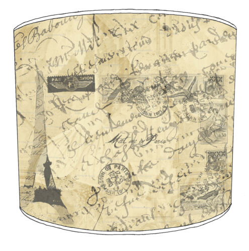 Lampshades Ideal To Match Vintage French Script Postcard Posters Wall Hangings.