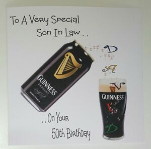 Image Is Loading Personalised 50th Birthday Card Stout 21st 30th 40th