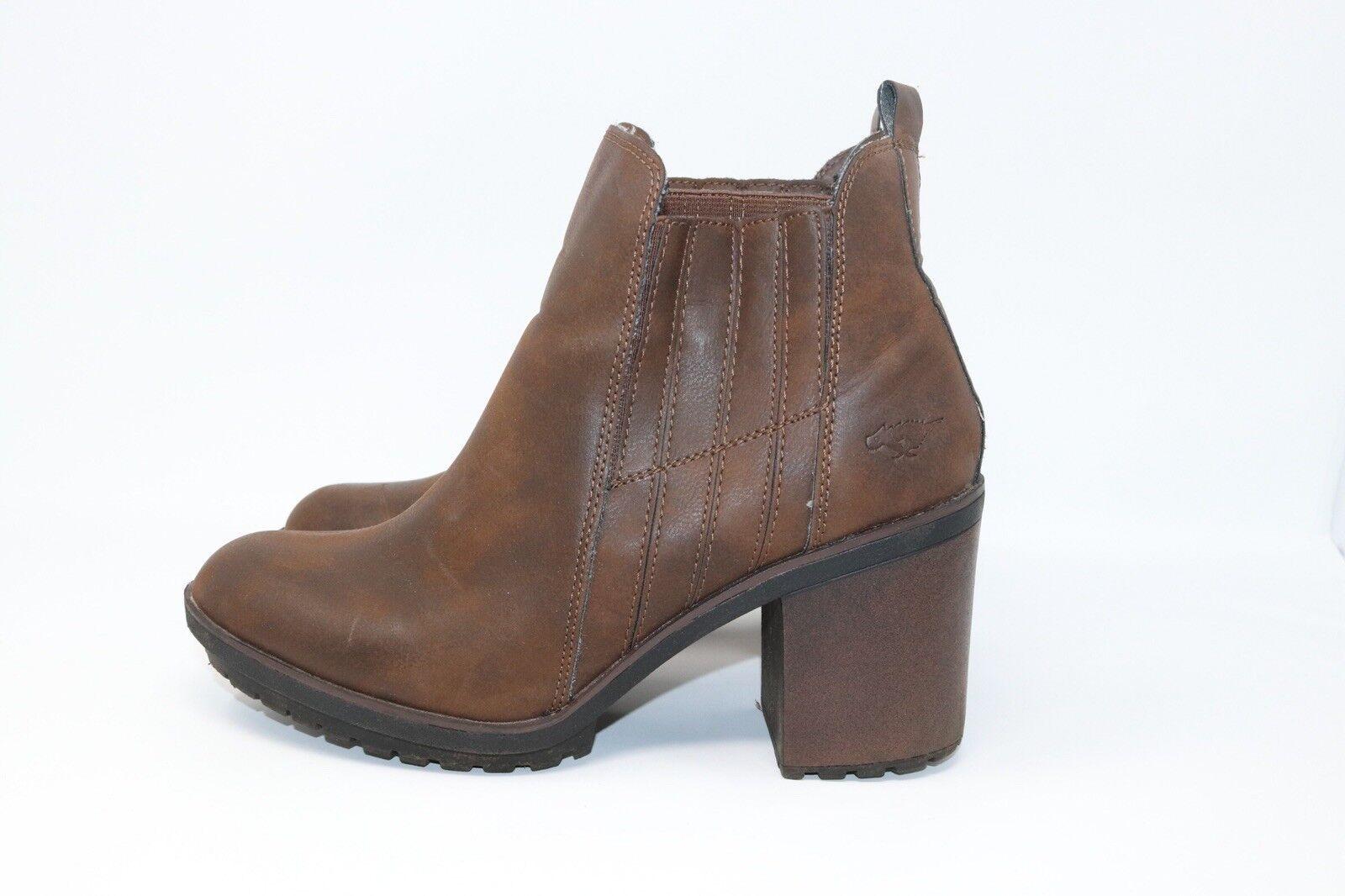 Femmes Rocket Dog Marron Bottes D'Hiver Chaussures très bon état taille 8 Blogger Fashion Chaud (019)
