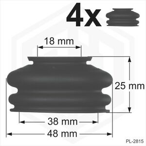 Ball-joint-rubber-boot-dust-cover-universal-4-x-18-38-25-track-rod-end-Car-Van