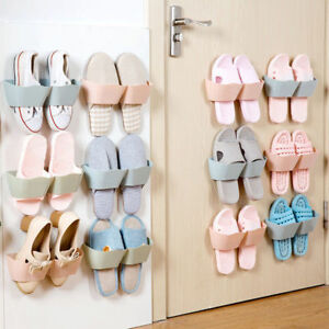 Image Is Loading Home Wall Door Mounted 2 Pocket Hanging Shoes