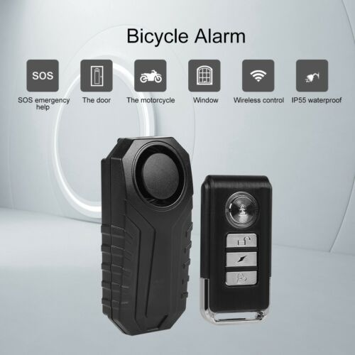 113dB IP55 Wireless Bicycle Motorcycle Anti-Theft Alarm Vibration Remote Control