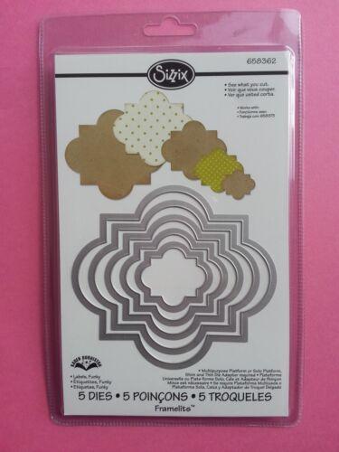 658362 New Funky Labels Sizzix Framelits 5 Die set