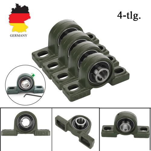 4 Stück UCP204 Lagerbock UCP 204 Stehlager Für 20mm Welle Gehäuselager Lagersitz