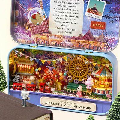 DIY Dollhouse Miniature 3D Doll House Kit Box Theatre Kids Toy Gift Home Decor