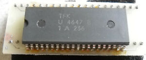 IC-U4647B-VC-TV-Video-Prozessor-mit-Adapter-1-Stueck-NOS-Telefunken