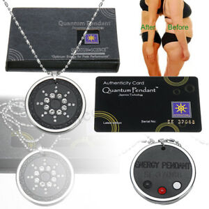 Quantum Scalar Energy Pendant Negative Ions Health Protection Necklace Gift Ebay