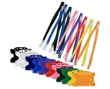 Plastic Rigid Id Card Badge Holder Amp Id Neck Lanyard X 10 Free Pampp
