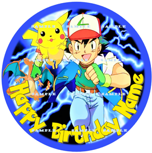 POKEMON PIKACHU Personalized edible cake toppers FREE SHIPPING in Canada
