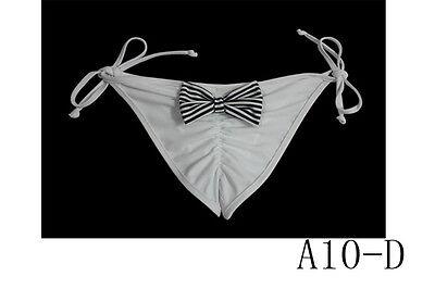 Newest Women Girl Floral  Brazilian Thong Bikini bottom Bow Decorate Underwear