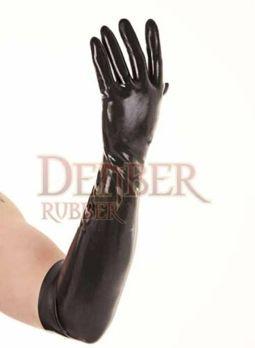 Black Latex Rubber Elbow Gloves Small 2nd BIN