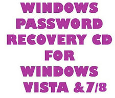 Password Reset Recovery CD for Microsoft Windows 8 7 Vista XP