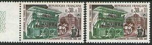 FRANCE-N-1589-034-JOURNEE-DU-TIMBRE-FACTEUR-OMNIBUS-VARIETE-DE-COULEUR-034-NEUFxxTTB