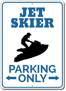 Jet-Skier-Parking-Sign-Custom-Aluminum-Metal-Wall-Decor-Plaque-Gift-ENSA1002622