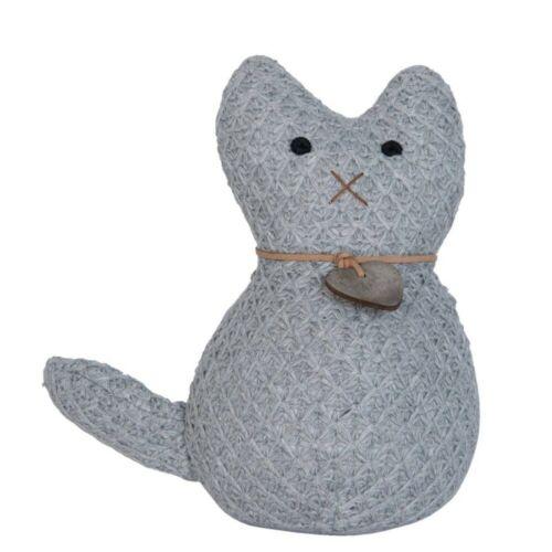 Butoir portiere Cat Chat avec cœur gris D 10 CM H 20 cm Clayre /& FED