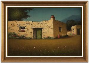 James-Everett-Stuart-Original-Western-Landscape-Oil-Painting-On-Board-Signed-Art
