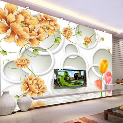3D Peony Tulip Art 744 Wall Paper Murals Wall Print Wall Wallpaper Mural AU Kyra